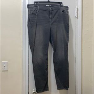 OLD NAVY Gray Jeans with Built in Warm. Size 18.